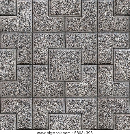 Granular Paving Slabs. Seamless Tileable Texture.
