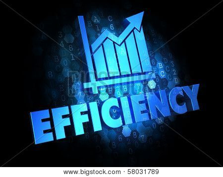 Growth Efficiency Concept on Digital Background.