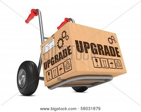 Upgrade - Cardboard Box on Hand Truck.