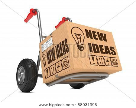 New Ideas - Cardboard Box on Hand Truck.