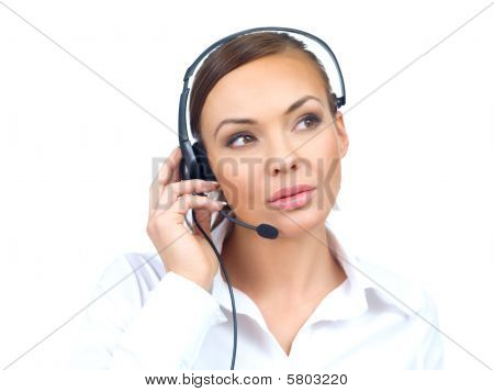 Woman In Headset