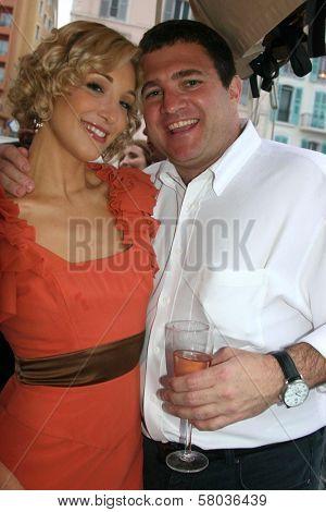 Alexandra Fulton and Robert Ricciardelli  at the Cedar Lane Yacht Party. Cedar Lane Yacht, Cannes, France. 05-18-08