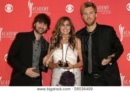 Lady Antebellum  in the press room at The 43rd Annual Academy Of Country Music Awards. MGM Grand Hotel And Casino, Las Vegas, NV. 05-18-08