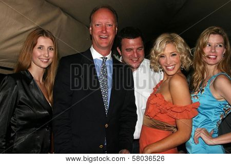 Claudia Ciesla, Sam Adams, Alexandra Fulton, Andrea Harrison and Robert Ricciardelli  at the Cedar Lane Yacht Party. Cedar Lane Yacht, Cannes, France. 05-18-08