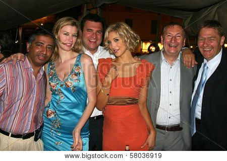 Nari Narayanan, Andrea Harrison, Robert Ricciardelli, Alexandra Fulton and Volker Maria Arend  at the Cedar Lane Yacht Party. Cedar Lane Yacht, Cannes, France. 05-18-08