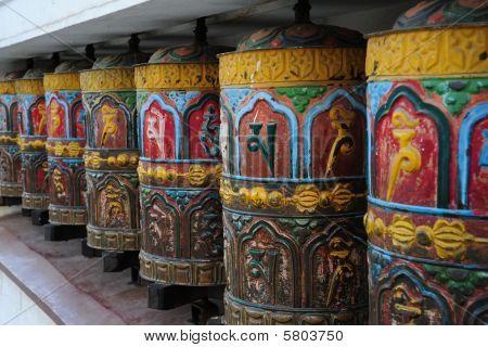 Color prayer wheels Kathmandu