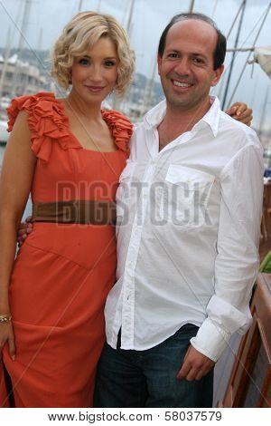 Alexandra Fulton and Max Gottlieb  at the Cedar Lane Yacht Party. Cedar Lane Yacht, Cannes, France. 05-18-08