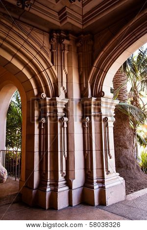 Ornate columns and arches