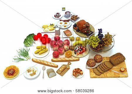 food pyramid of healthy food