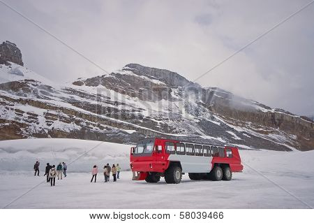 Columbia icefield in canada