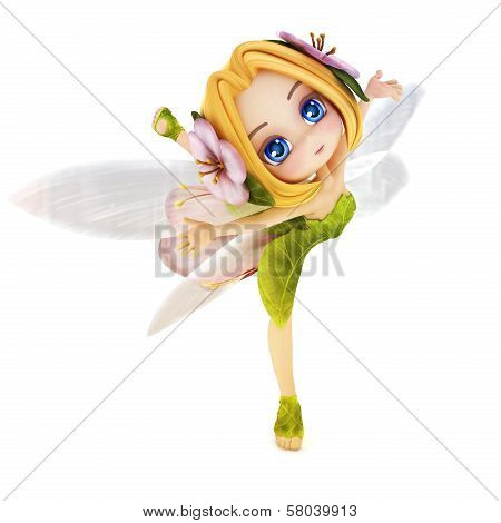 Cute toon ballerina fairy