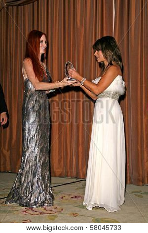 Phoebe Price and Paula Abdul  at the Neuromuscular Disease Foundation Spring Gala Dinner and Casino Night. Beverly Hills Hotel, Beverly Hills, CA. 06-05-08
