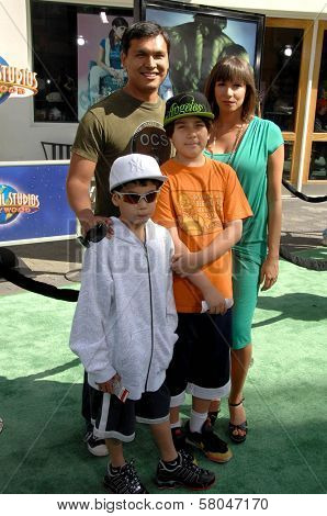 Adam Beach and family  at the World Premiere of