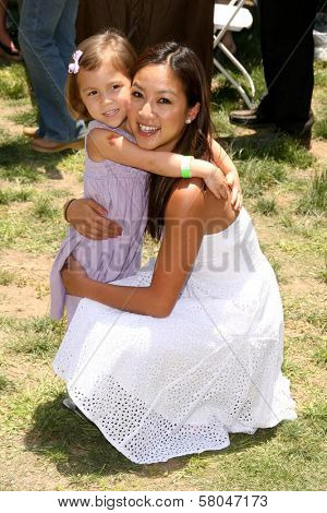 Michelle Kwan and her niece Olivia  at