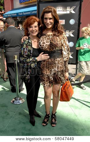 Jo Champa and her mother  at the World Premiere of