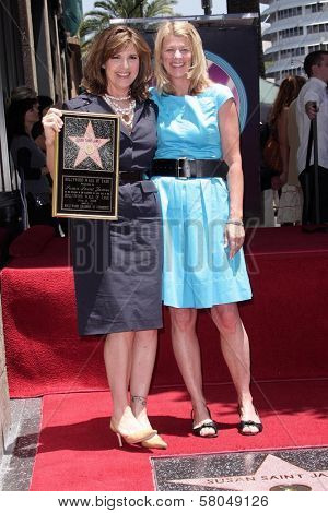 Susan Saint James and sister Mary Mercedes Dewey  at the award ceremony honoring Susan Saint James with a star on the Hollywood Walk of Fame. Hollywood Blvd., Hollywood, CA. 06-11-08