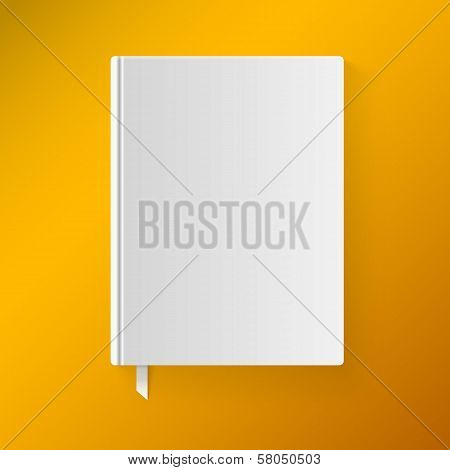 Blank book cover with a bookmark. Object for design and branding