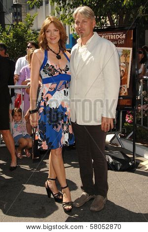 Glenne Headly and husband Byron  at the world premiere of