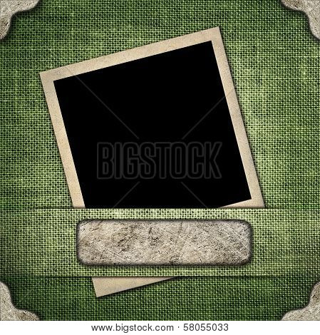 Old-style Photo On The Background Of Linen
