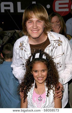Jason Dolley and Madison Pettis  at the World Premiere of
