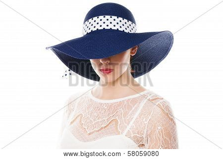 Hiding Eyes Under Sun Hat