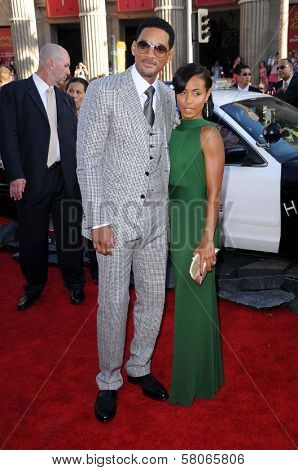Will Smith and Jada Pinkett Smith  at the World Premiere of
