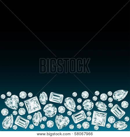 Black Background With Diamonds