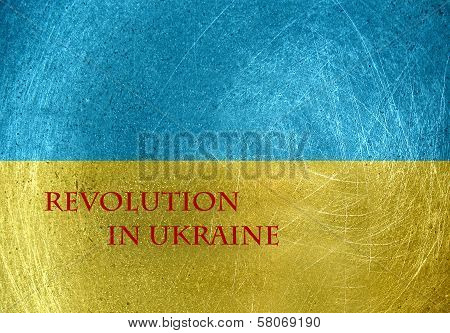 Revolution In Ukraine On The Flag Of Ukraine