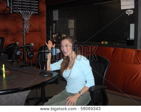 Alicia Arden  appearing on Sirius's Playboy Radio show Playdate. Sirius Radio, Los Angeles, CA. 07-09-08