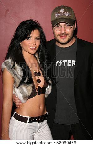 Rebeca Linares and Adam Rifkin  at the Preview Screening of