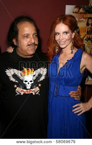 Ron Jeremy and Phoebe Price  at the Preview Screening of
