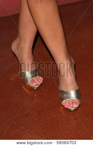 Katie Lohmann's shoes  at the Preview Screening of