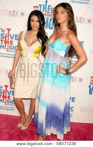 Kim Kardashian and Brittny Gastineau  at the VH1 Rock Honors Party. Intermix Boutique, Los Angeles, CA. 07-11-08