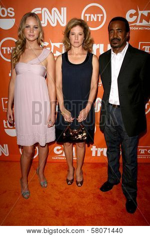 Jennifer Lawrence with Nancy Travis and Tim Meadows  at the Turner Network's Summer 2008 TCA press Tour. Beverly Hilton Hotel, Beverly Hills, CA. 07-11-08
