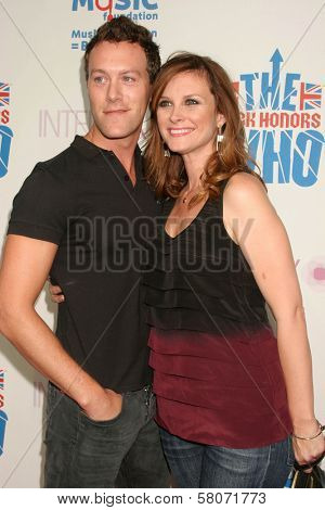 Jake Walden and Bonnie Somerville  at the VH1 Rock Honors Party. Intermix Boutique, Los Angeles, CA. 07-11-08