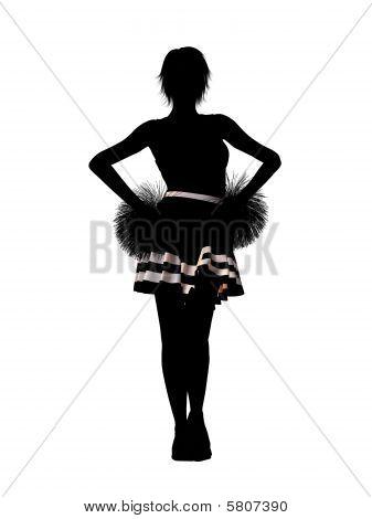 Cheerleader Illustration Silhouette