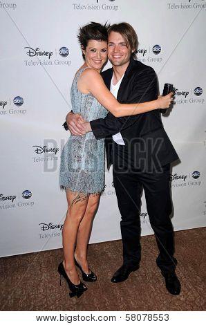 Zoe McLellan and Seth Gabel  at Disney and ABC's