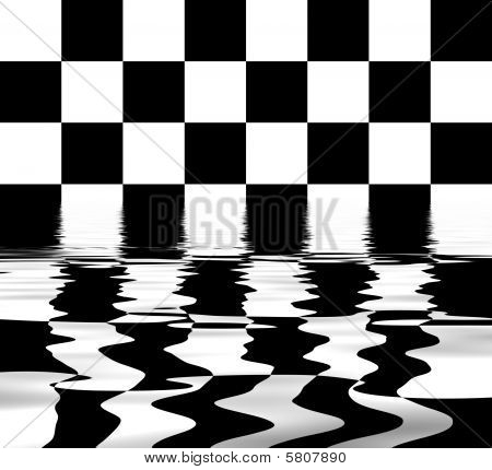Flooded Chess Board
