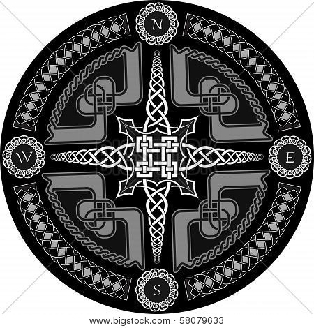 Decorative Compass In Celtic Style