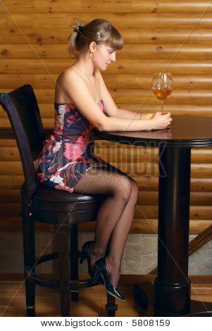 Portrait With Wine