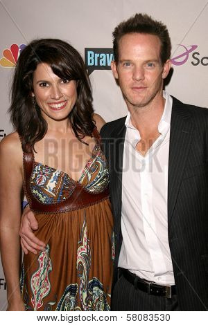 Rochelle Greenwood and Jason Gray Stanford  at the NBC Universal 2008 Press Tour All Star Party. Beverly Hilton Hotel, Beverly Hills, CA. 07-20-08