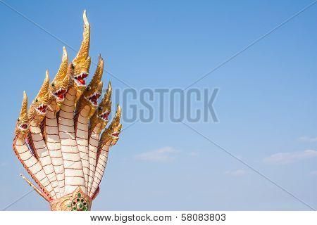Seven Naga Heads Statue