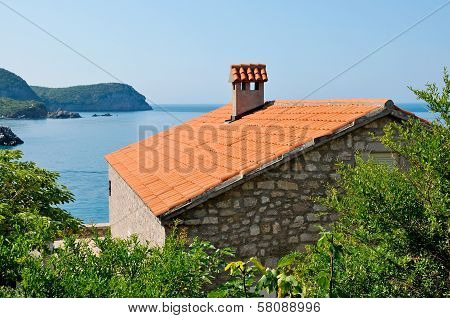 Stone house with beautiful view on Adriatic sea