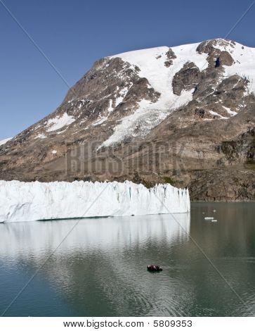 Front Of A Glacier