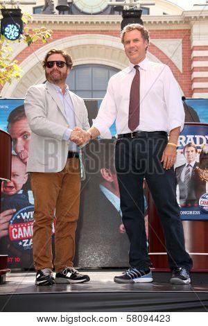 Zach Galifianakis, Will Ferrell at