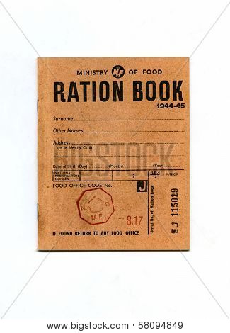 1944-45 Wartime Ration Book