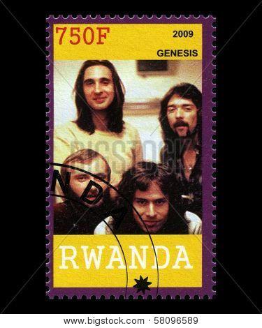 Genesis Postage Stamp From Rwanda