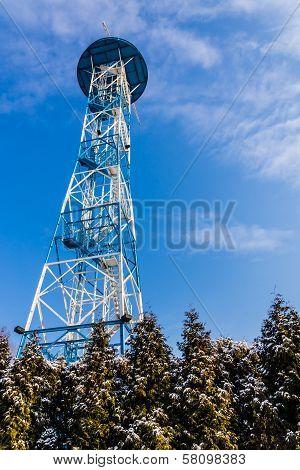 Parachute tower in Katowice