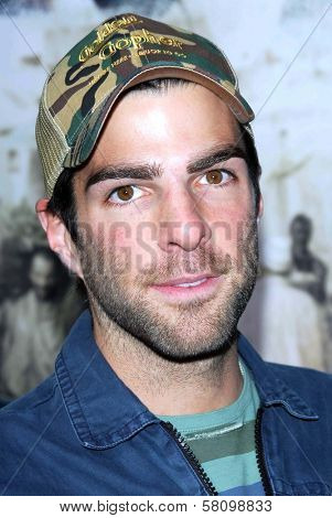 Zachary Quinto at the Los Angeles premiere of