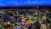 Bangkok City At Dusk